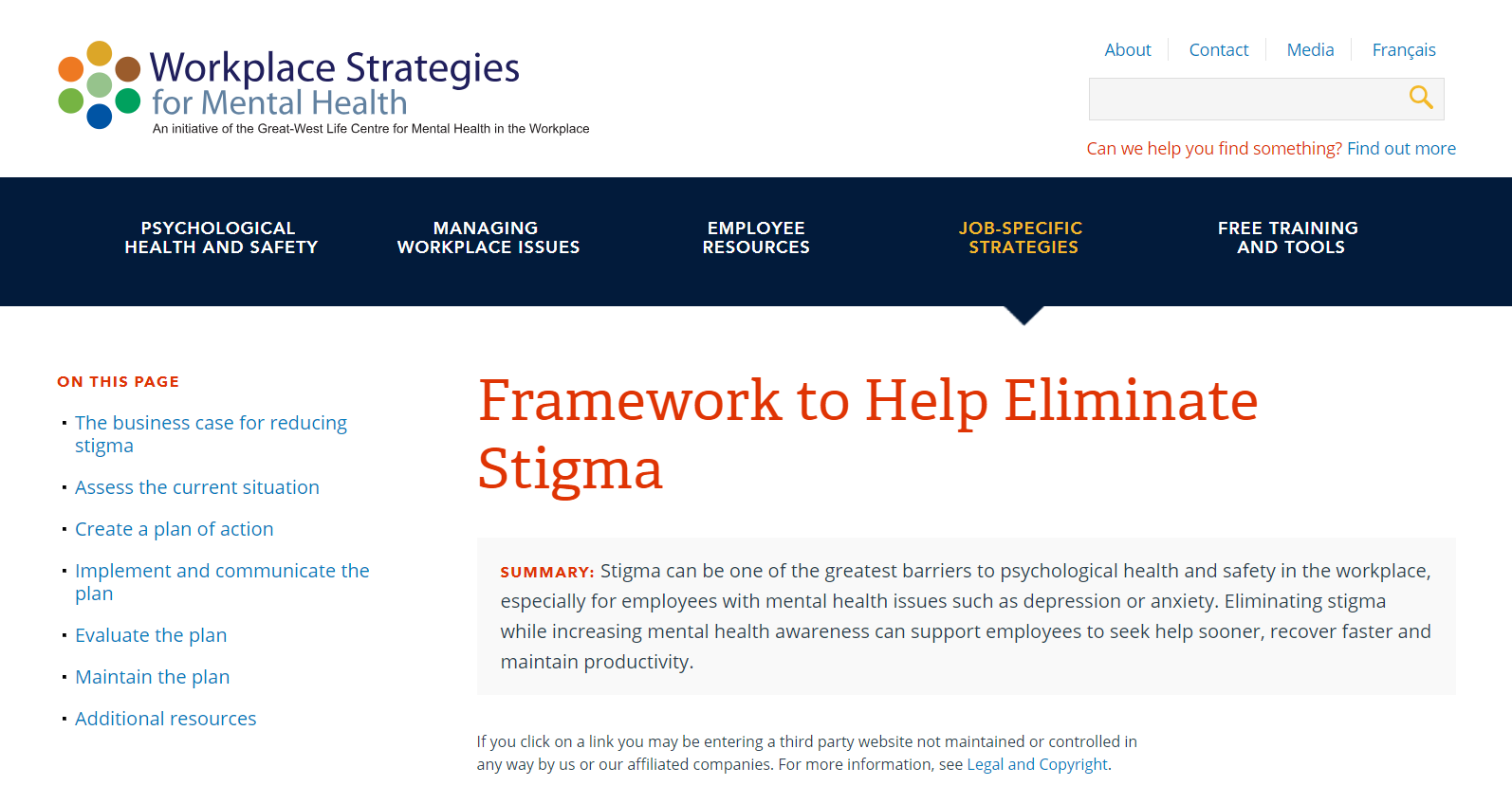 Mental Health At Work Resources Global Business And Disability Network
